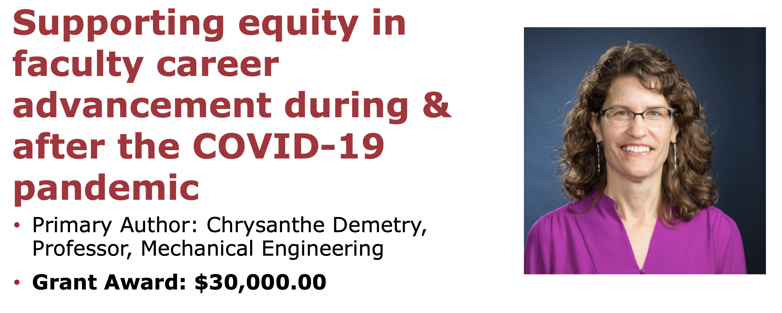Supporting equity in faculty career advancement during & after the COVID-19 pandemic