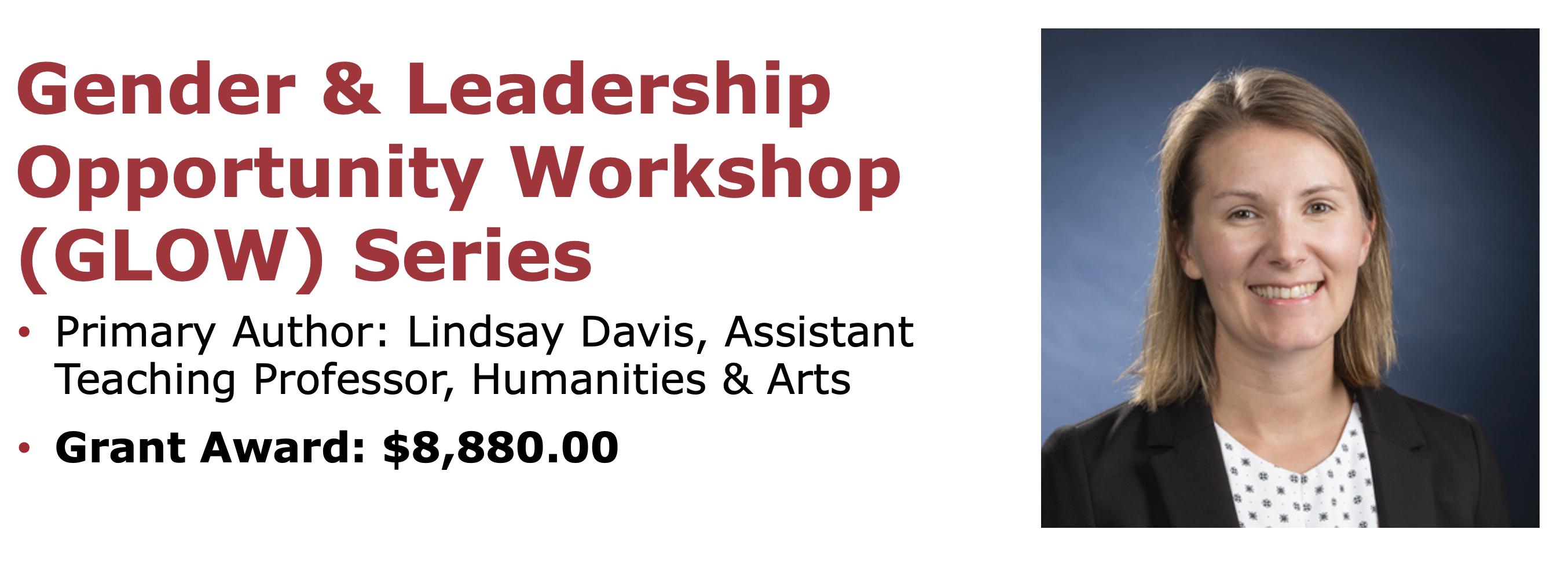 Gender & Leadership Opportunity Workshop (GLOW) Series
