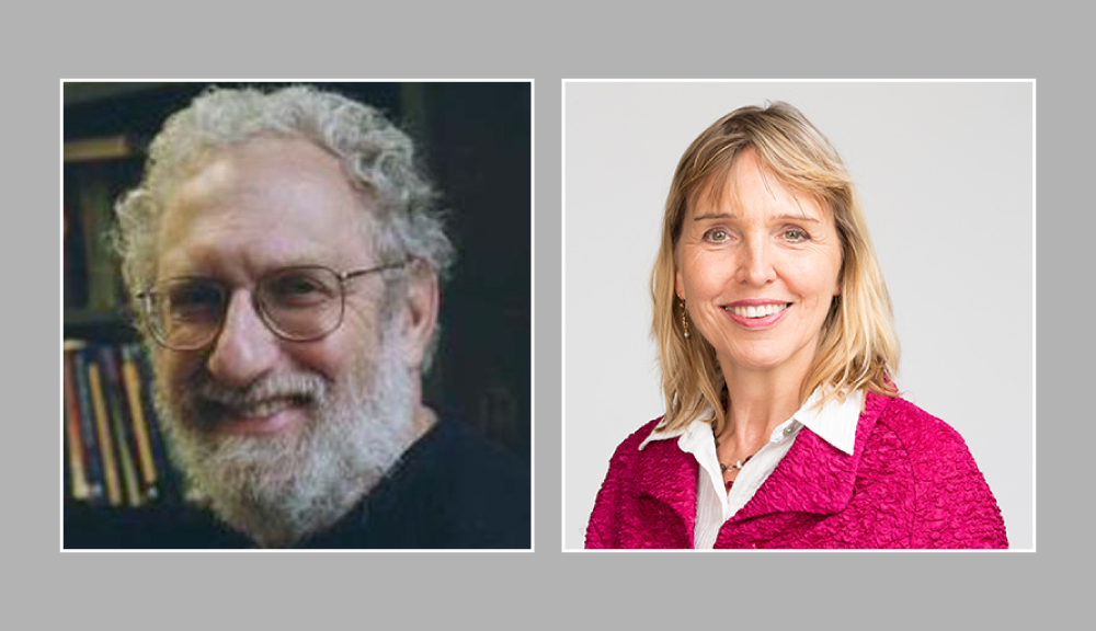 Photo of Roger Gottlieb and Elke Rundensteiner, who were named William B. Smith Professors at WPI