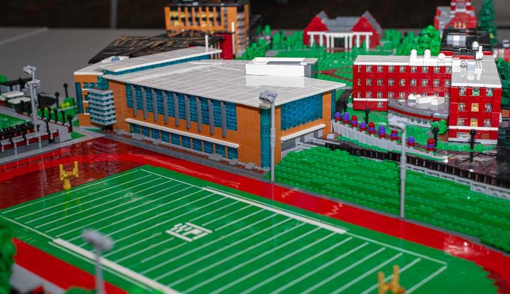 A LEGO version of Alumni Field on WPI's campus.