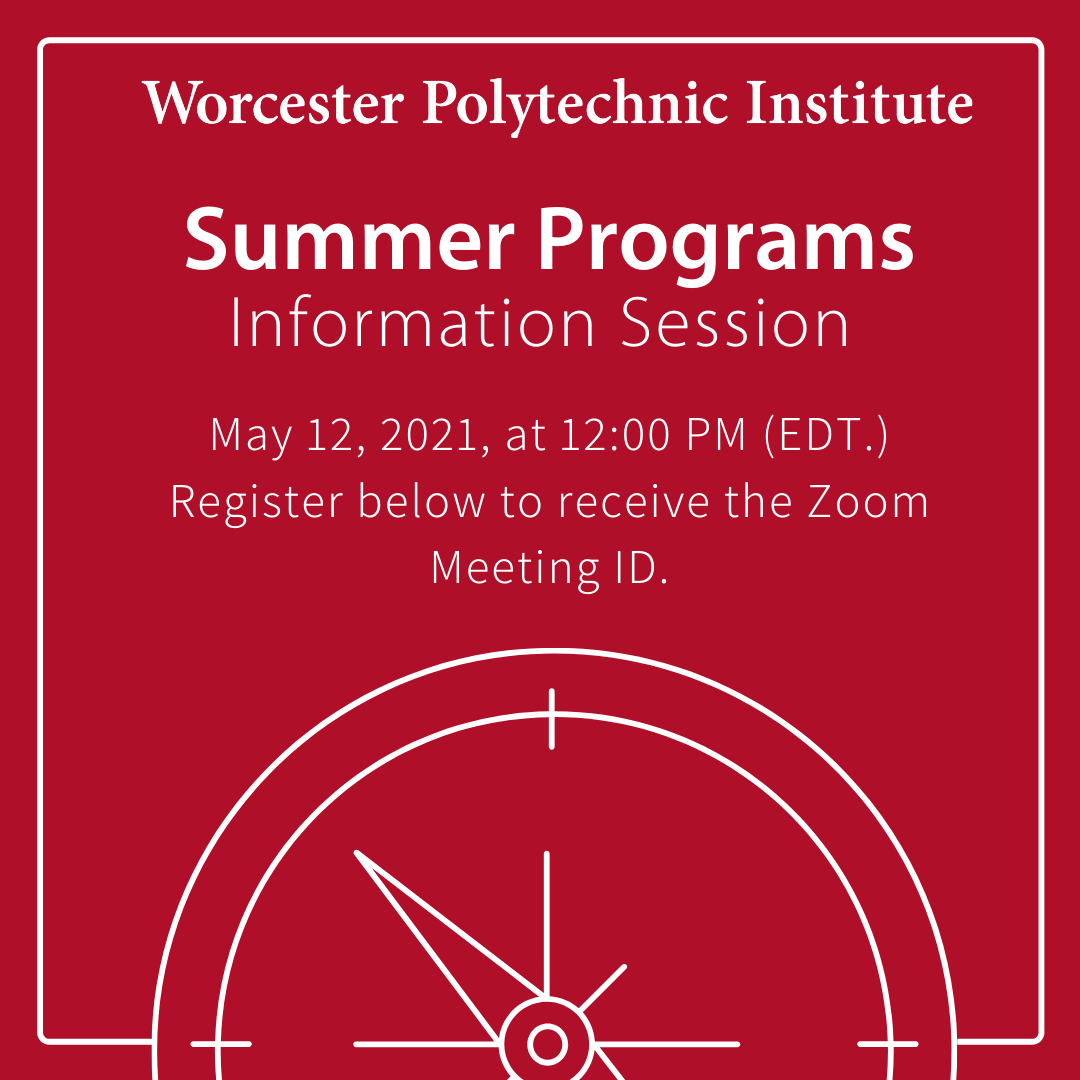Summer programs info session graphic