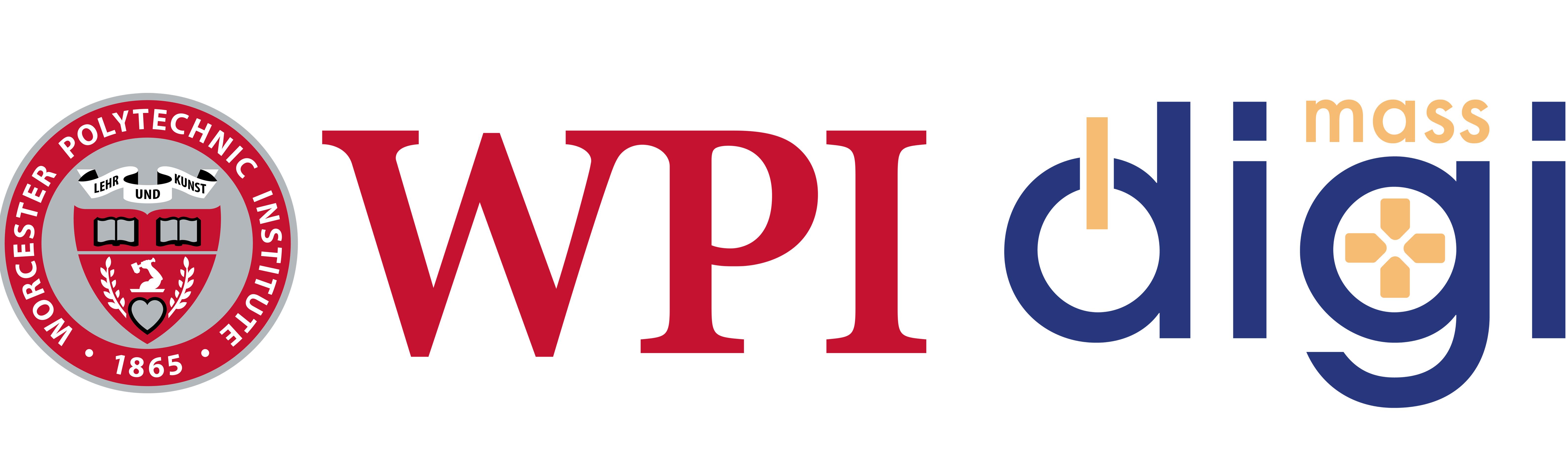 The WPI and MassDigi logos side by side.