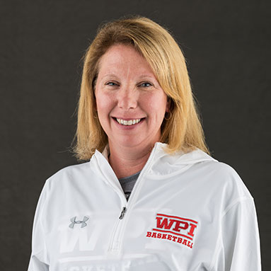 Cherise Galasso in a white sweatshirt with a red WPI logo alt