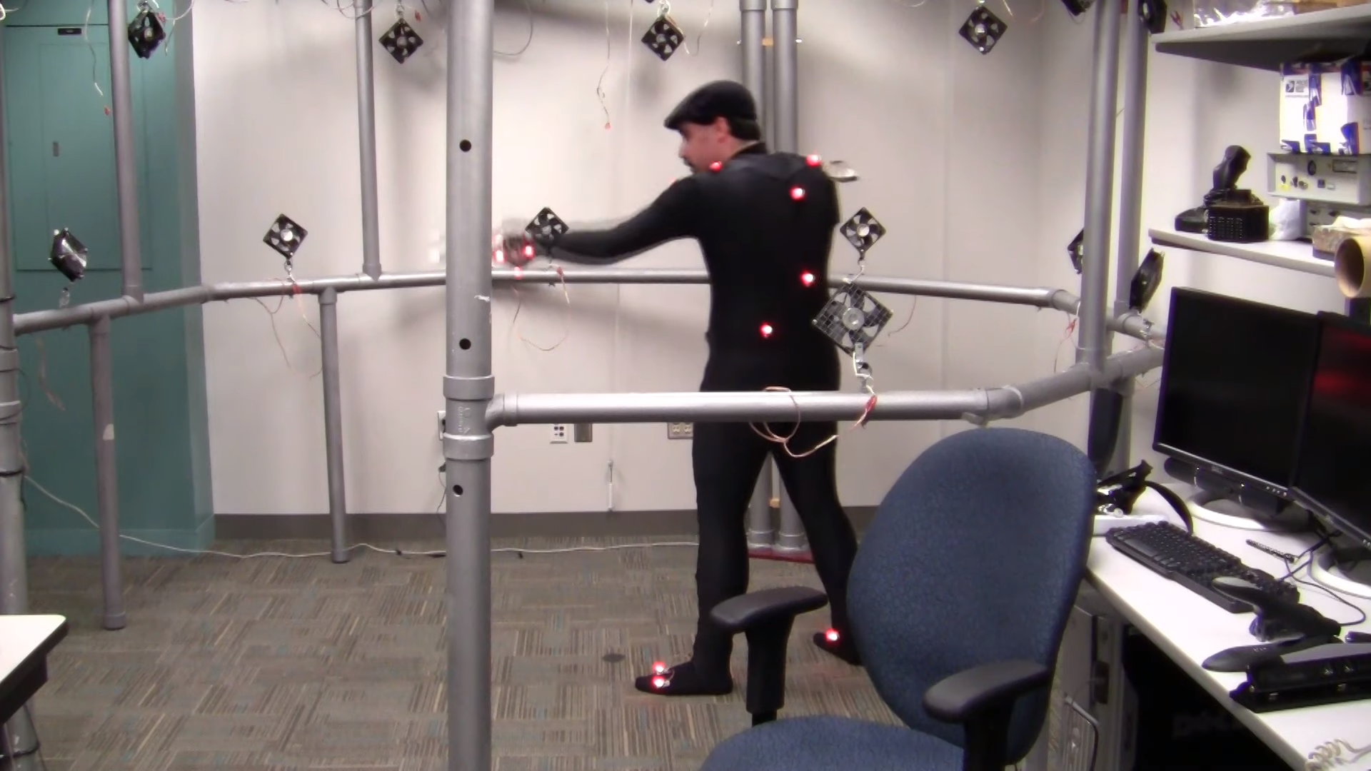 Motion capture technologies in the IMGD Interaction Lab