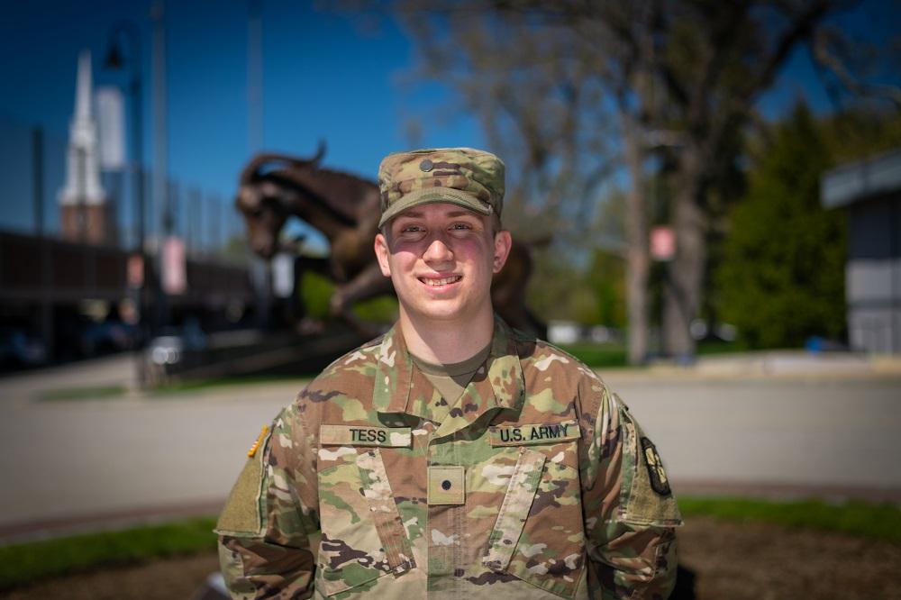 Army ROTC Cadet Spencer Tess