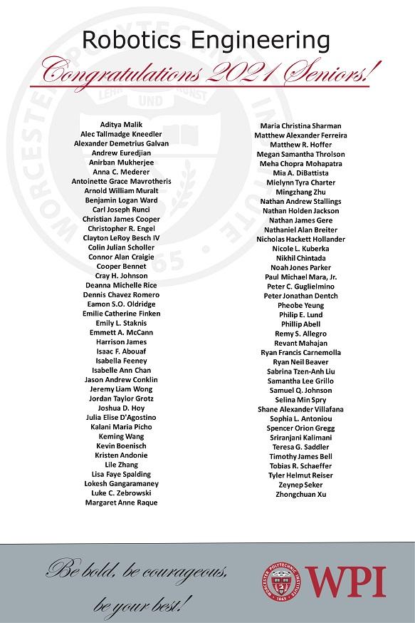 2021 Senior Graduates
