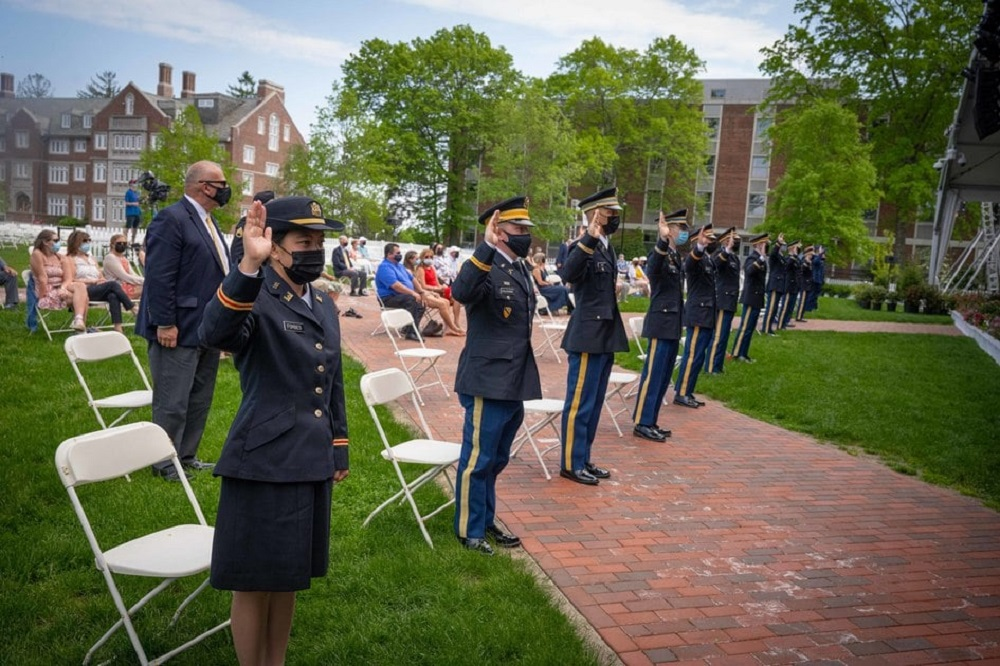 ROTC cadets take oath of office