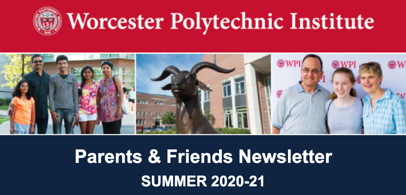 A screenshot of the Parents & Friends newsletter header for the post-commencement issue.