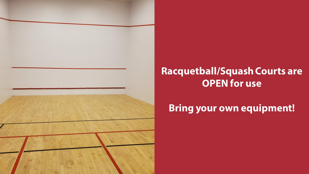 Racquetball Squash Courts Open
