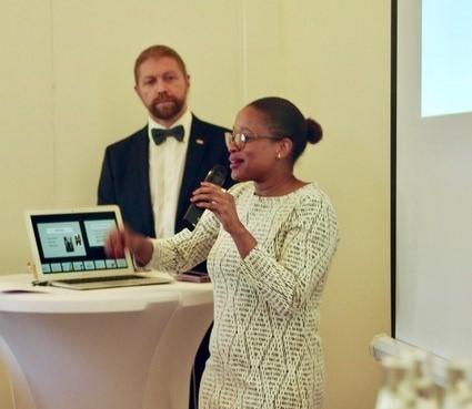 Crystal Brown presenting in Sweden.