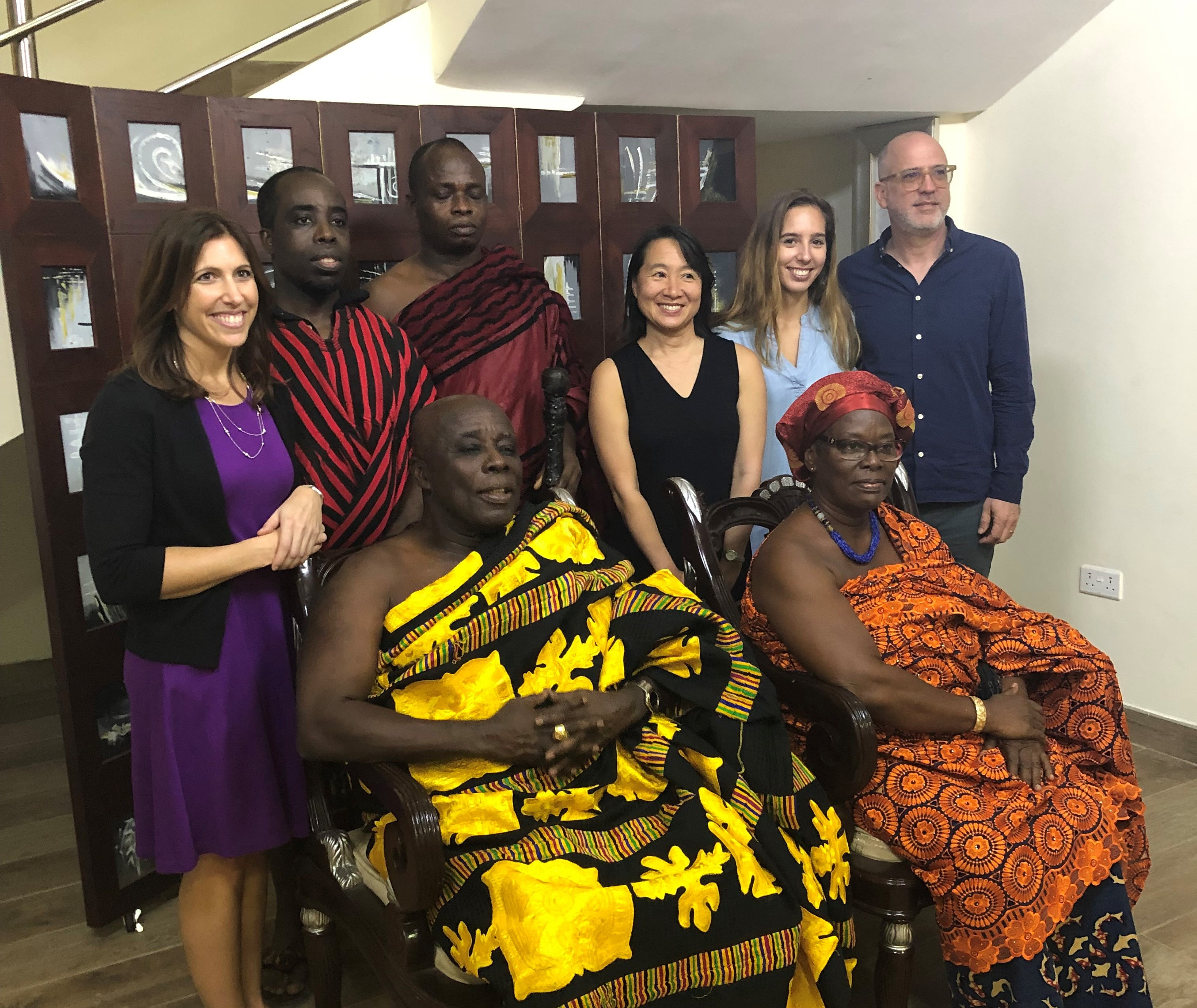 WPI faculty meeting the Okyenhene (the King of Akyem Abuakwa) in Kyebi, Ghana.