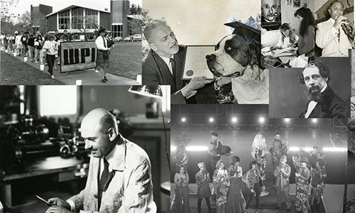 Collage of older WPI photos