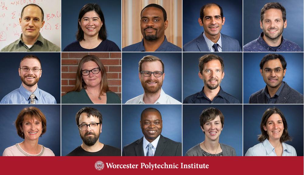 Composite image of 15 professors