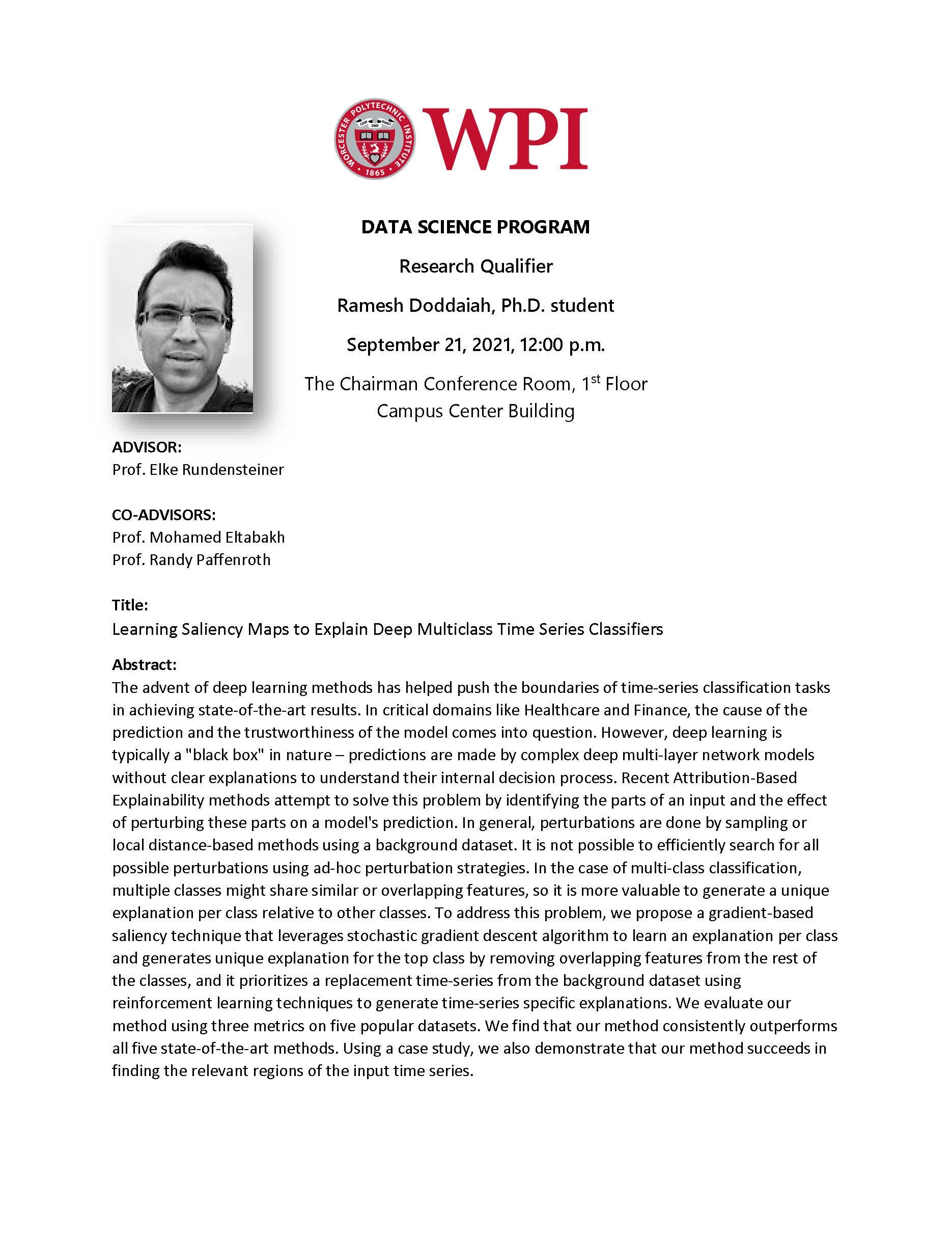 Ramesh Doddaiah - Research qualifier. alt