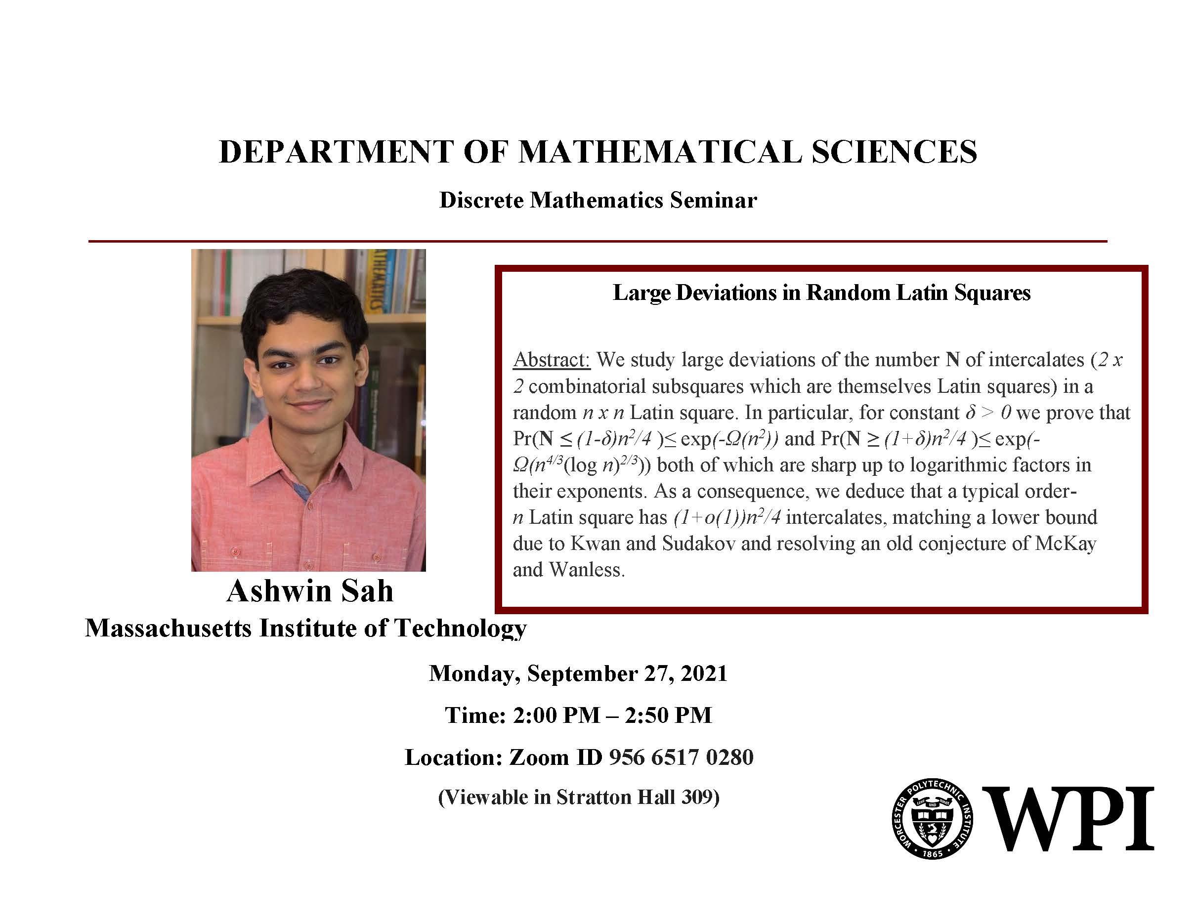 Ashwin Sah Math Seminar
