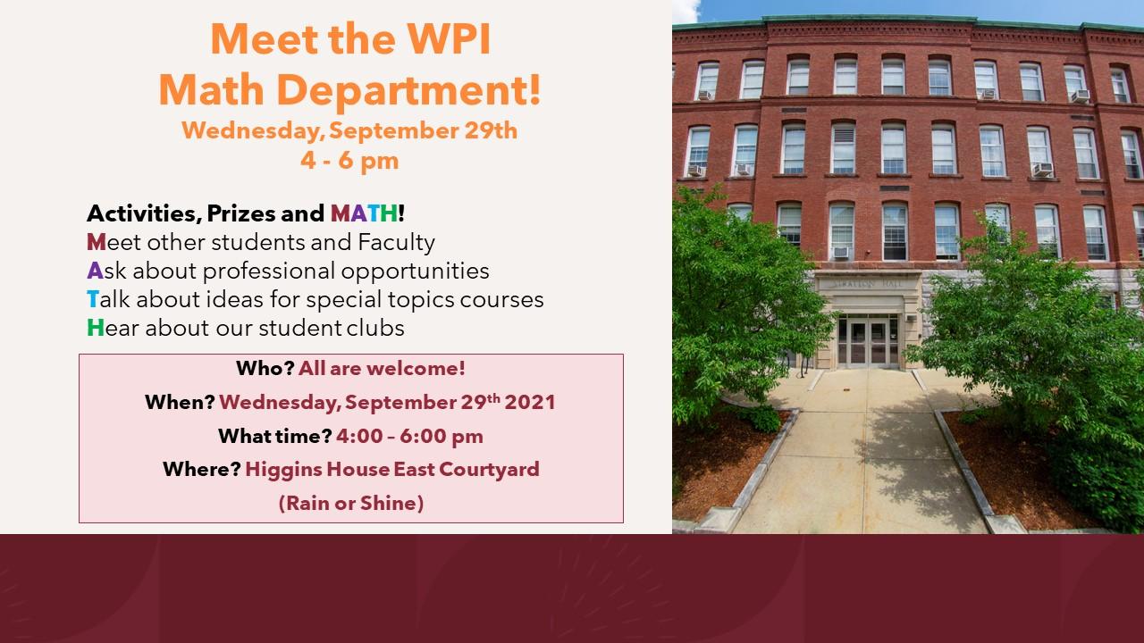 Meet The Math Department flyer