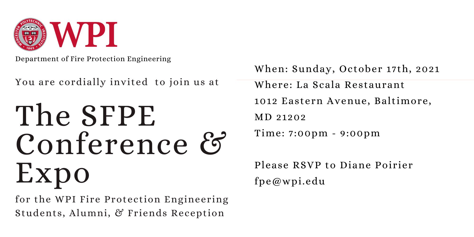 SFPE conference invite