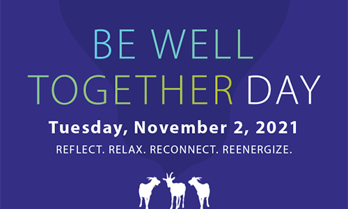 WPI Be Well Together Day graphic