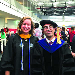 Jessica Rosewitz and Nima Rahbar at Commencement
