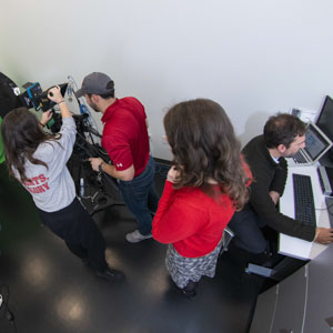WPI students conducting research