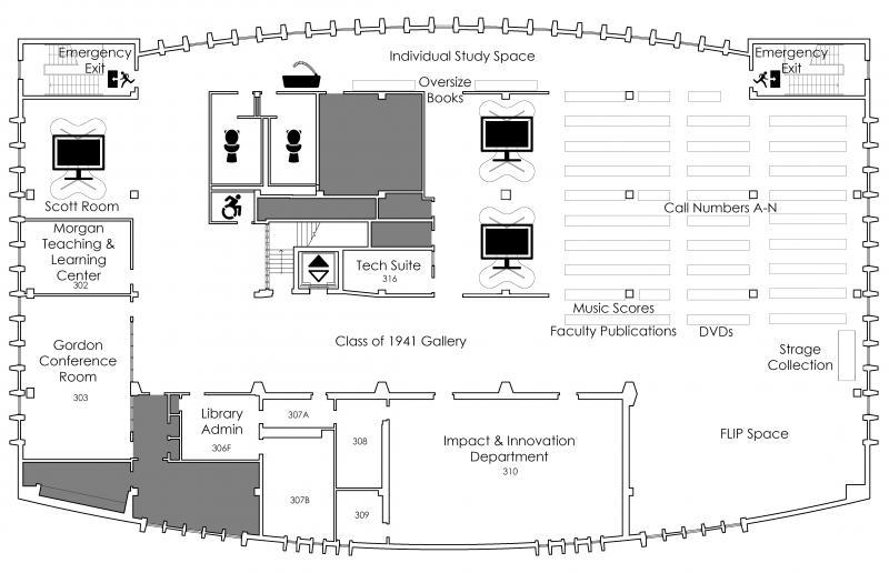 Third Floor Plan Third Floor Plan. Library Admin