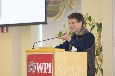 Dean Kamen, head of the Advanced Regenerative Manufacturing Institute (ARMI), at WPI's recent Advanced Biomanufacturing Symposium.
