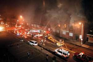 Worcester Cold Storage warehouse fire