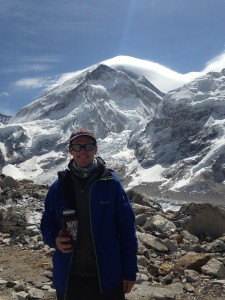 In April, Peter Hansen joined an expedition to the base camp, situated at 17,500 feet above sea level.