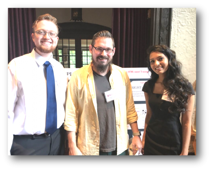 Cole Polychronis, Professor Lane Harrison and Apoorva Nori