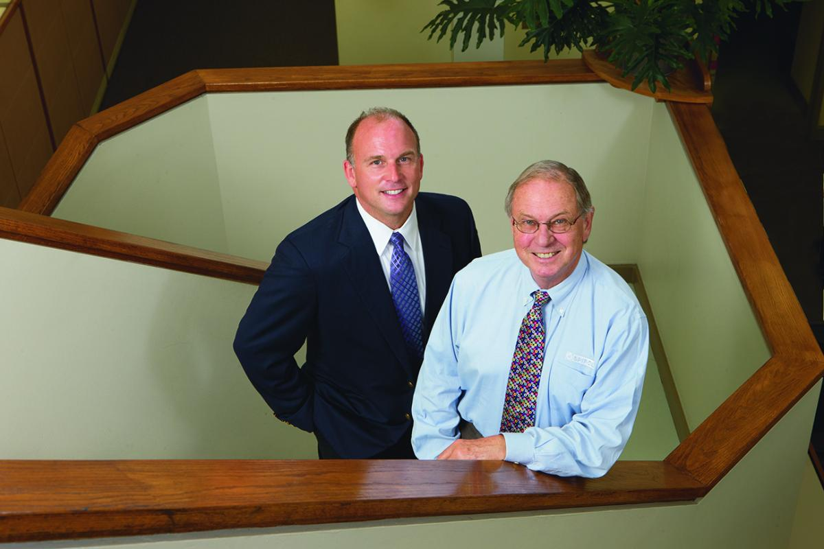 Hans Koehl, right, and his son Jeffrey represent the most recent generations to oversee Spirol in Danielson, Conn.