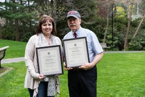 The Trustees' Award for Outstanding Staff Member was presented to Rhonda Podell and Mike Dorsey.