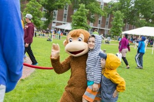WGBH's Curious George was a popular personality with the younger crowd.