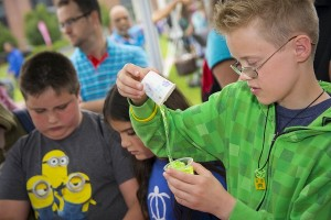 Attendees enjoyed learning how to make slime with common household products.