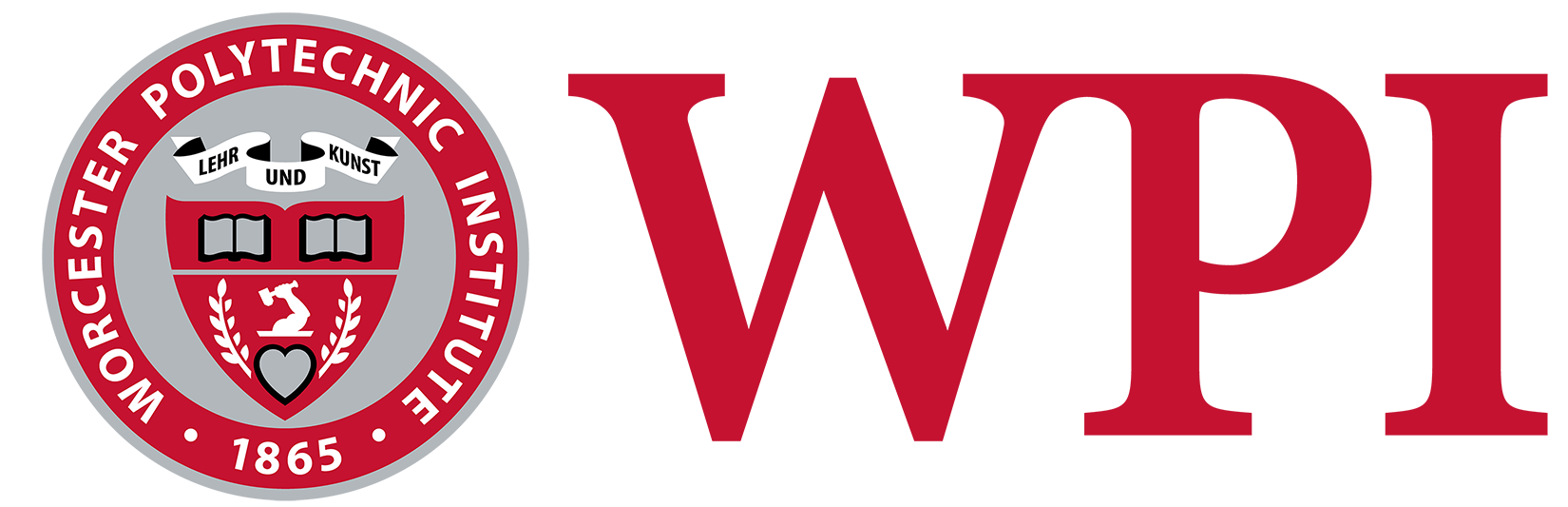 WPI Logo in red with color seal