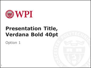 Screenshot of powerpoint template, first slide