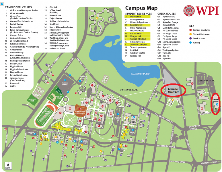 Wpi Campus Map Bedroom 2018: Wpi Campus Map