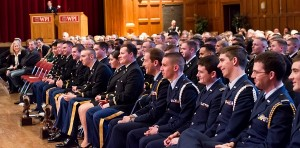 Alden Hall was filled for the ROTC award program.