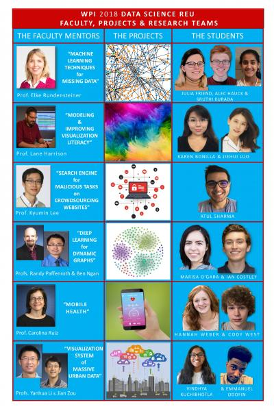 Data Science REU 2018 Projects