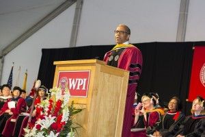 Speaker Bernard Harris told graduates that failure is an option, but 'don't let failure define you.'