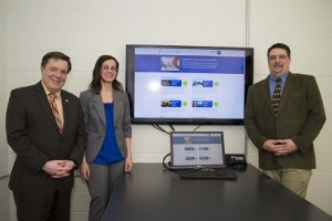 Peter Thomas, Cheryl Cerney, and Scott Hadley of University Advancement