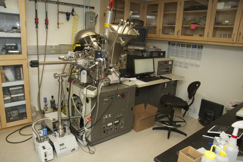 Prof. Grimm's group uses an X-ray Photoelectron Spectrometer to study the properties of novel materials