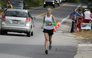 Jennifer McWeeny said the winter's severe weather posed challenges in training for the marathon.