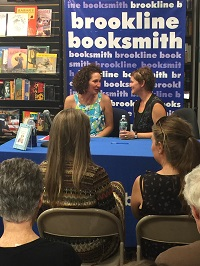 Michelle Ephraim and co-author Caroline Bicks during a reading at the Brookline Booksmith earlier this month.