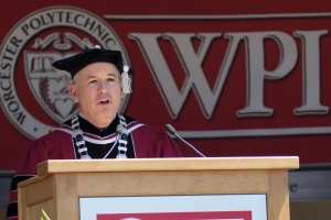 WPI President Dennis Berkey delivered the charge to the Class of 2012.