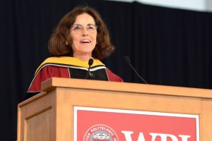 Commencement speaker France Córdova urged graduates to begin their 'own imaginative journey.'