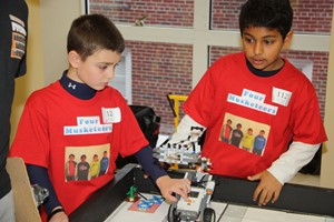 Students will build robots out of LEGOs at the FLL Qualifier.