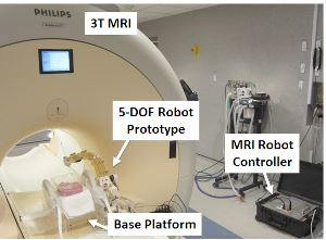 WPI's MRI-guided robot and robot controller.