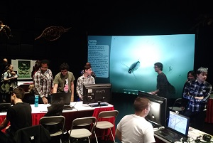 College teams displayed their video games at Rensselaer Polytechnic Institute GameFest