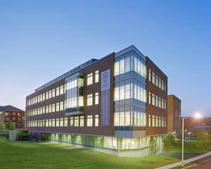 The WPI Life Sciences and Bioengineering Center, the first structure to be completed at Gateway Park, is fully occupied.