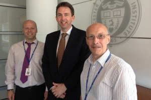 Northern Ireland education and employment leaders Justin Kerr, Stewart Matthews, and David Brockbank.
